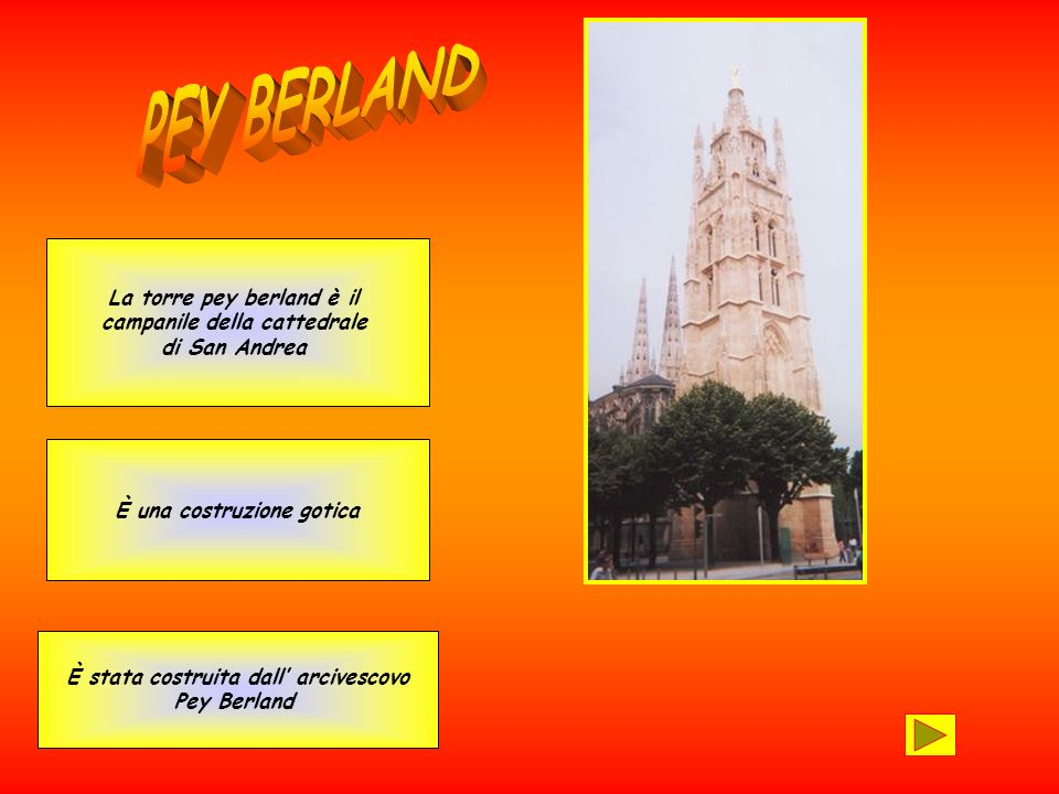 PEY BERLAND La torre pey berland è il campanile della cattedrale