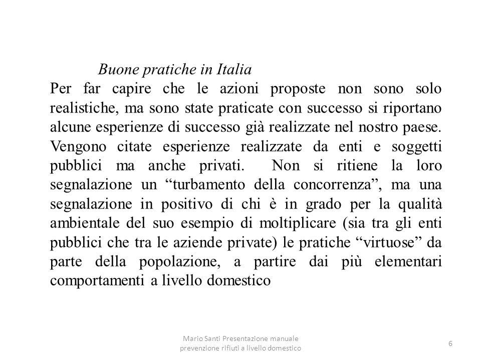 Buone pratiche in Italia