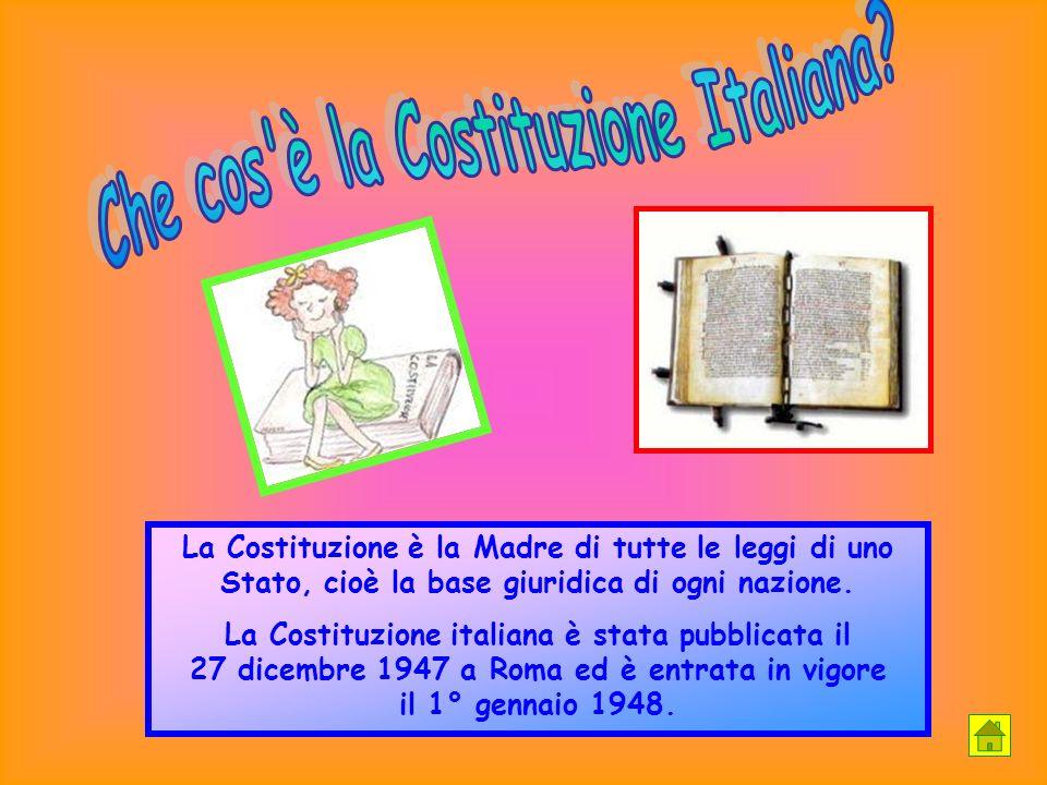 Che cos è la Costituzione Italiana
