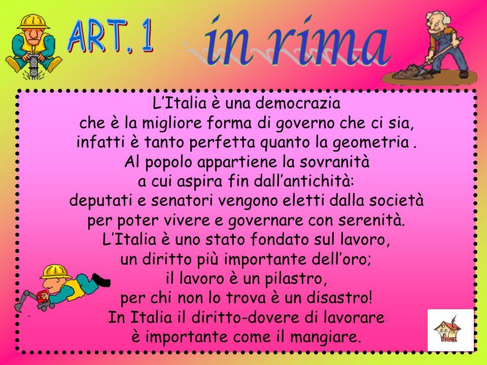 in rima ART. 1 L'Italia è una democrazia