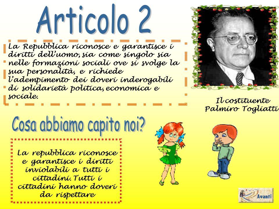 Articolo 2 Cosa abbiamo capito noi