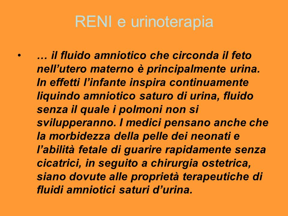 RENI e urinoterapia