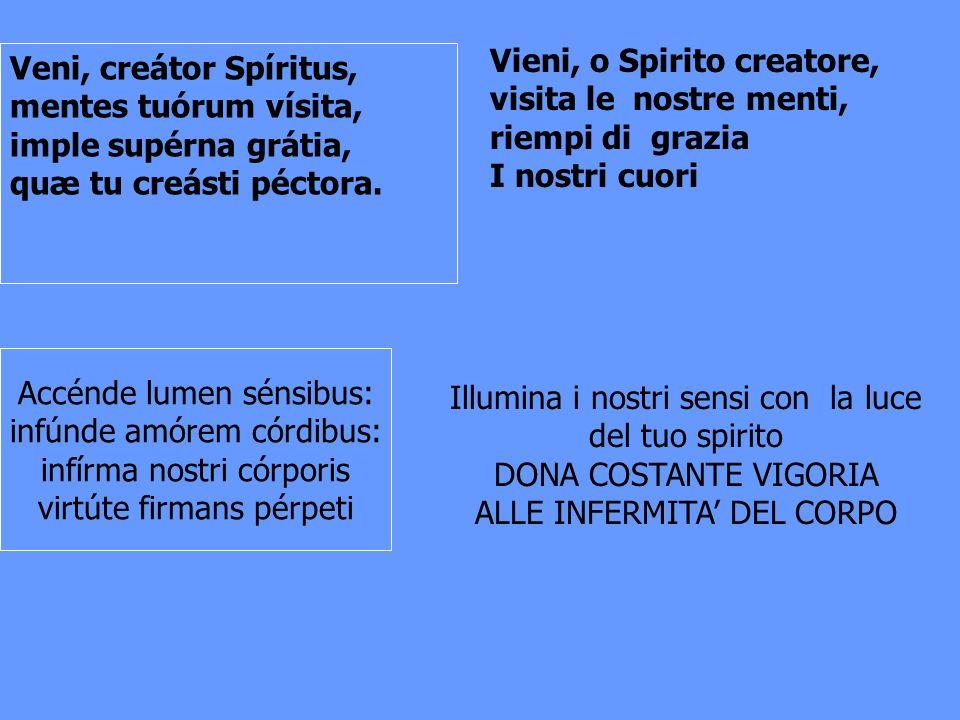 Vieni, o Spirito creatore, visita le nostre menti, riempi di grazia