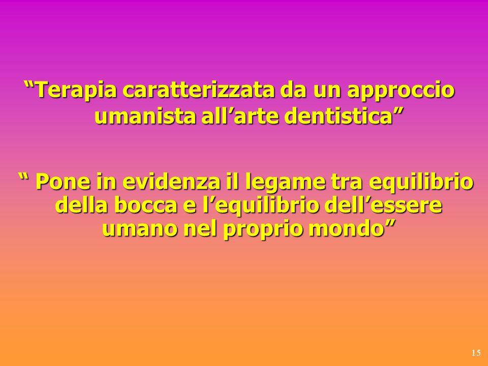 Terapia caratterizzata da un approccio umanista all'arte dentistica