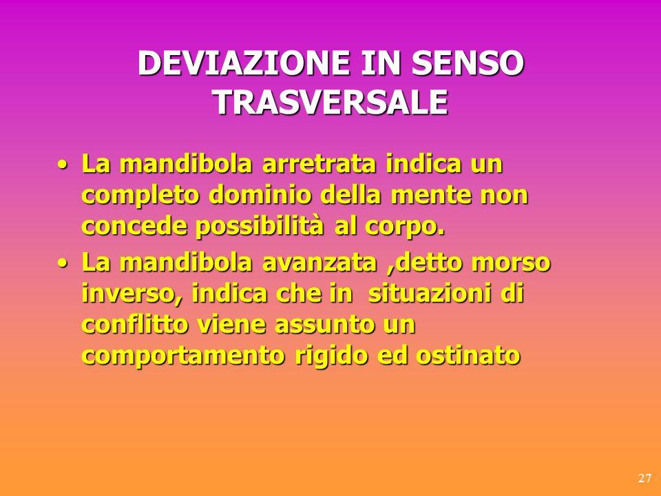 DEVIAZIONE IN SENSO TRASVERSALE