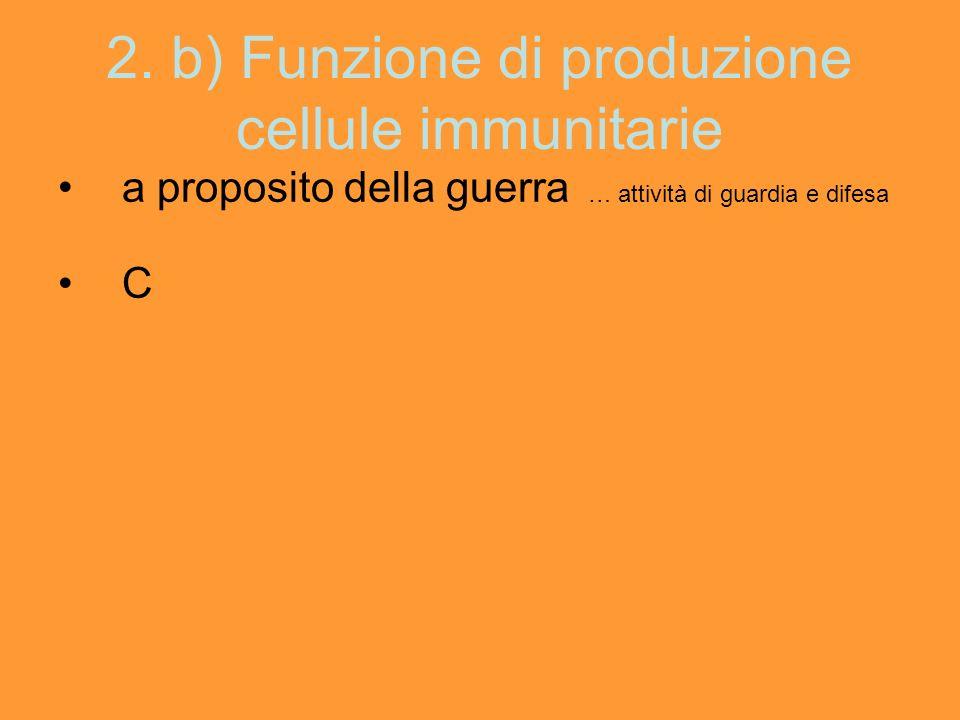 2. b) Funzione di produzione cellule immunitarie