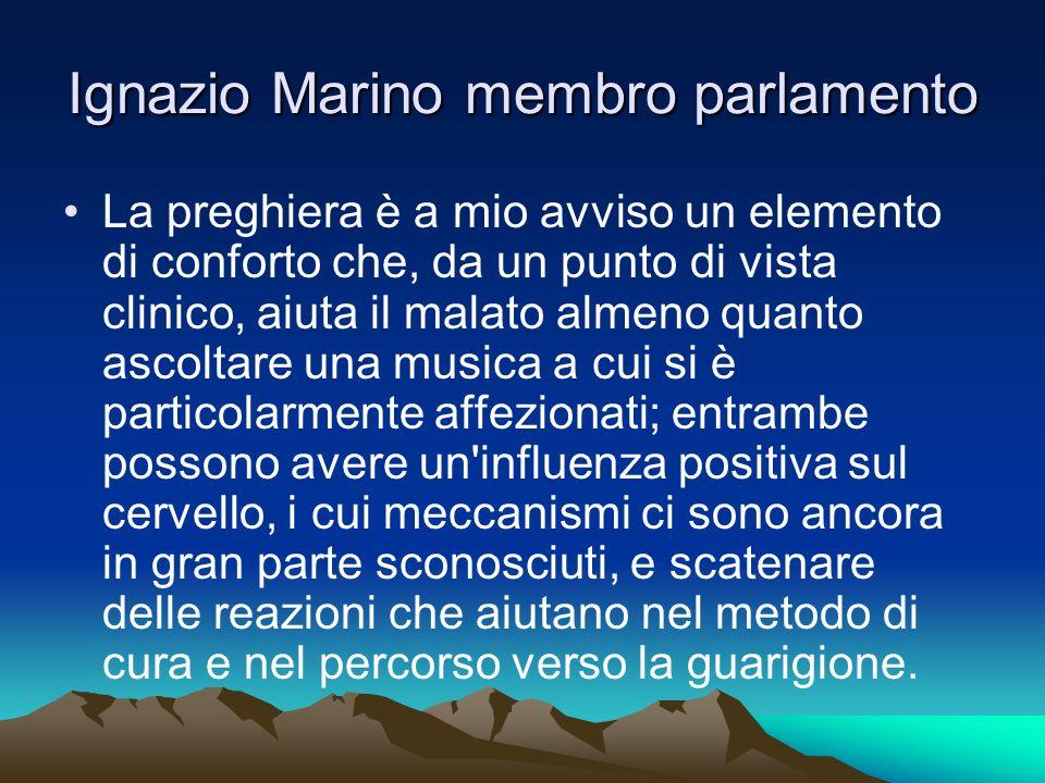 Ignazio Marino membro parlamento