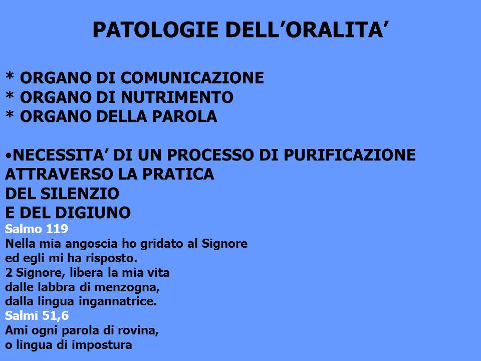 PATOLOGIE DELL'ORALITA'