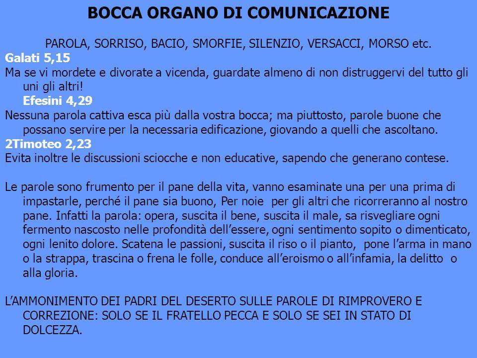 BOCCA ORGANO DI COMUNICAZIONE