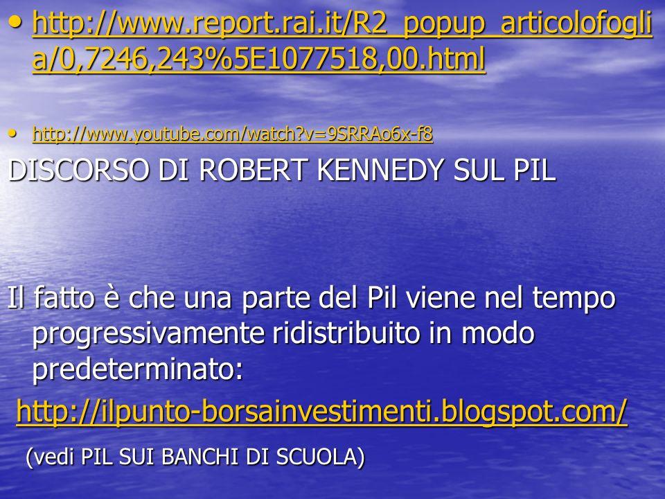 DISCORSO DI ROBERT KENNEDY SUL PIL
