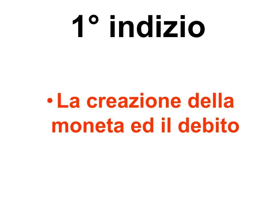 La creazione della moneta ed il debito