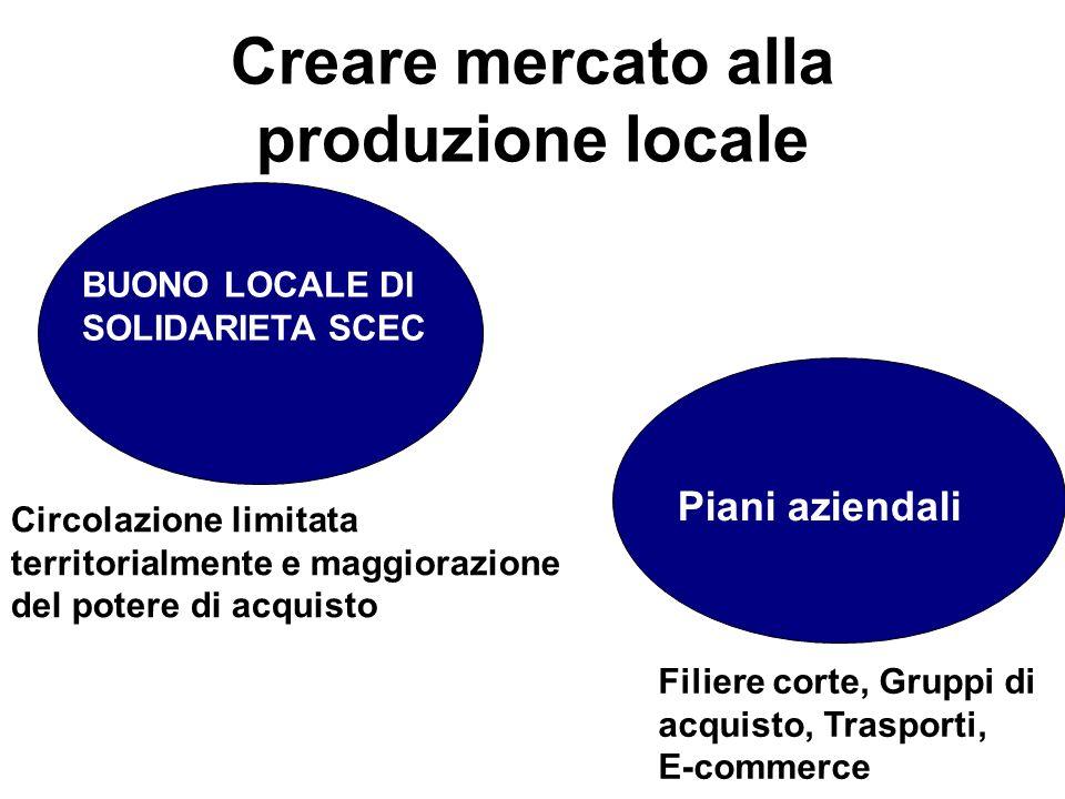 Creare mercato alla produzione locale