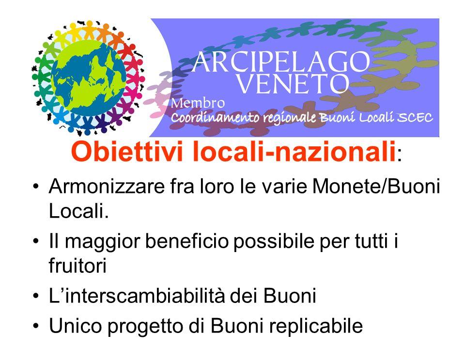 Obiettivi locali-nazionali: