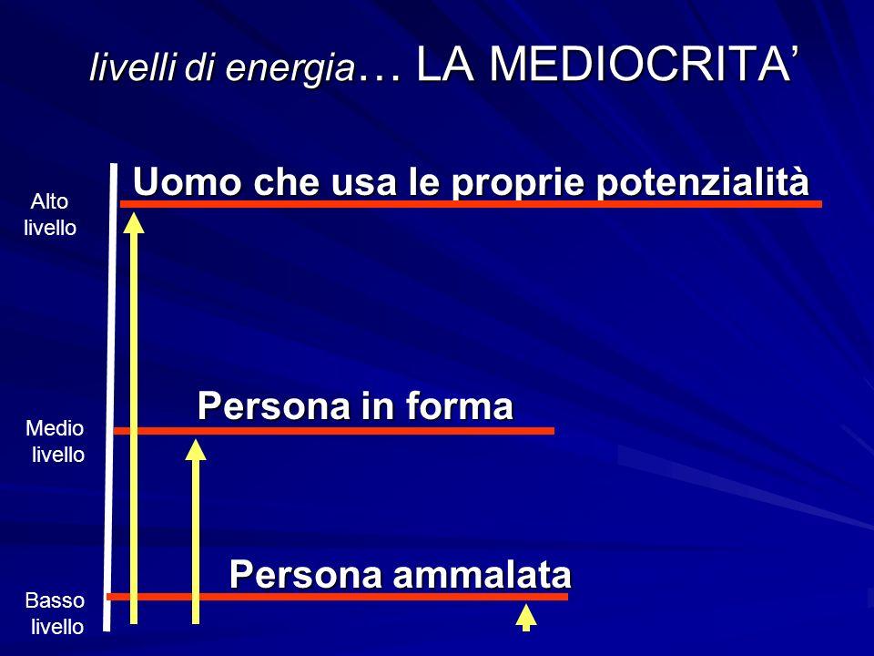 livelli di energia… LA MEDIOCRITA'