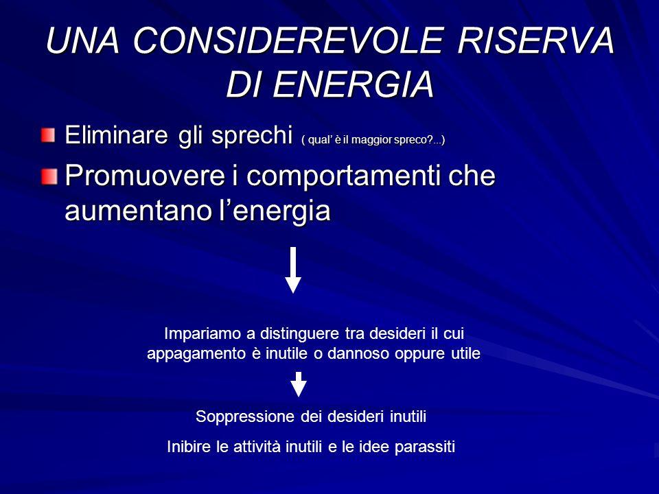 UNA CONSIDEREVOLE RISERVA DI ENERGIA