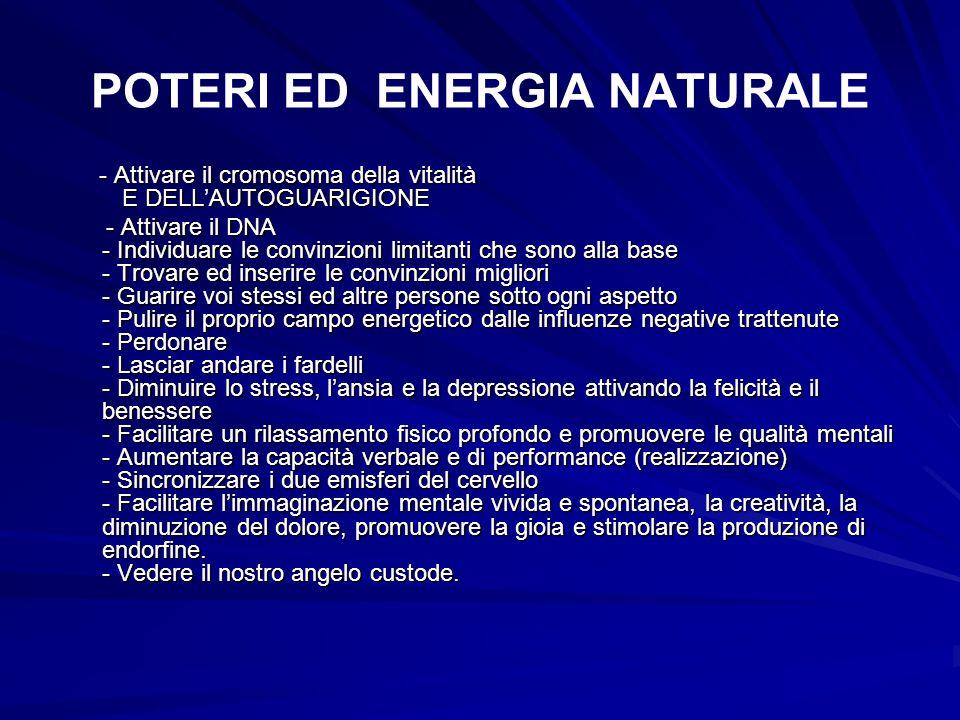 POTERI ED ENERGIA NATURALE