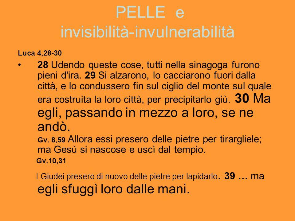 PELLE e invisibilità-invulnerabilità