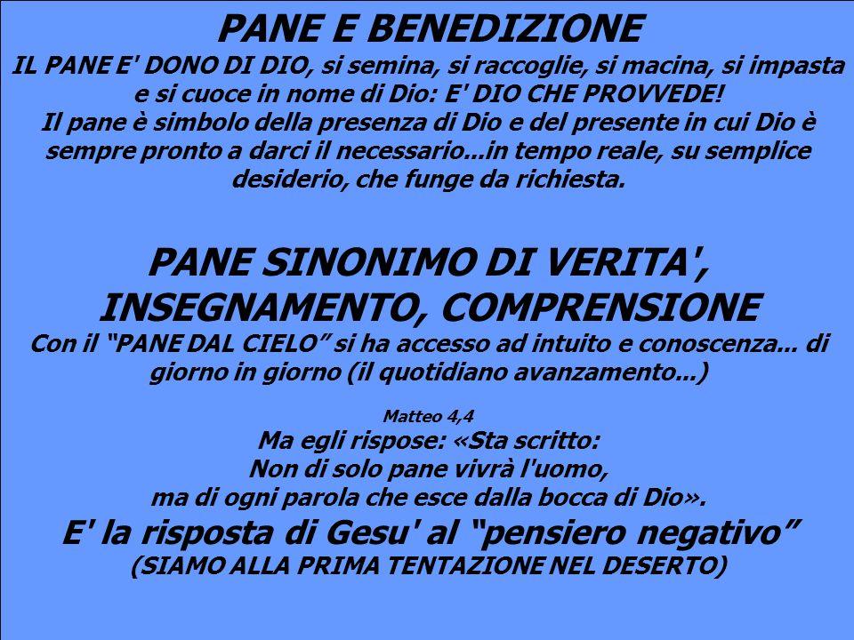 PANE SINONIMO DI VERITA , INSEGNAMENTO, COMPRENSIONE