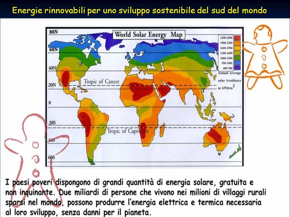 Energie rinnovabili per lo sviluppo del sud del mondo