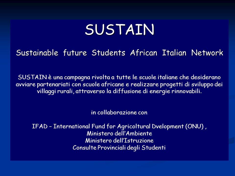 SUSTAIN Sustain Sustainable future Students African Italian Network