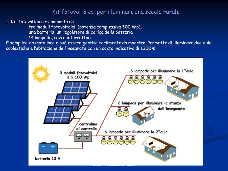 Kit fotovoltaico per illuminare una scuola rurale