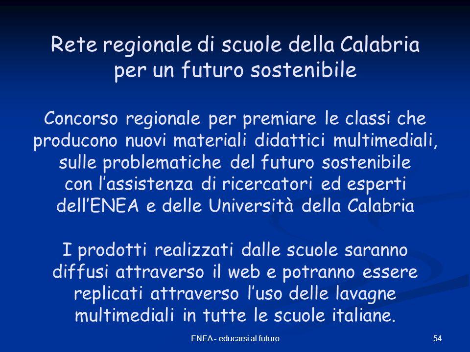 Rete regionale di scuole della Calabria per un futuro sostenibile