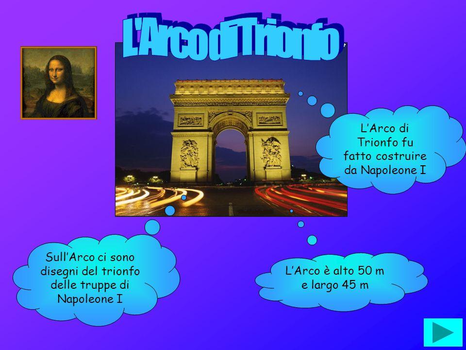 L Arco di Trionfo L'Arco di Trionfo fu fatto costruire da Napoleone I