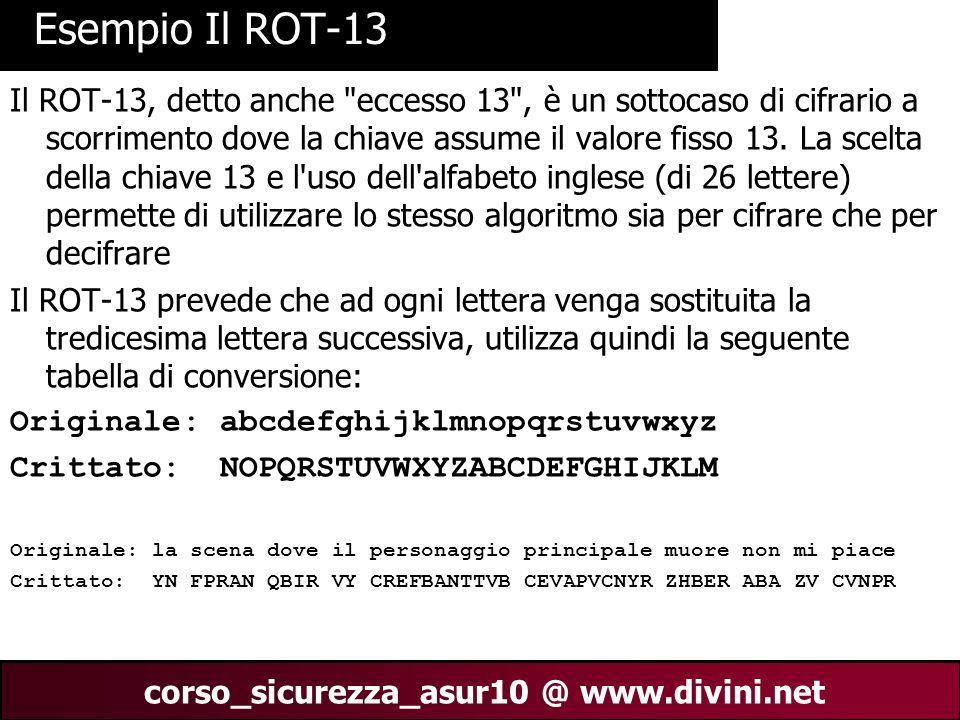 Esempio Il ROT-13