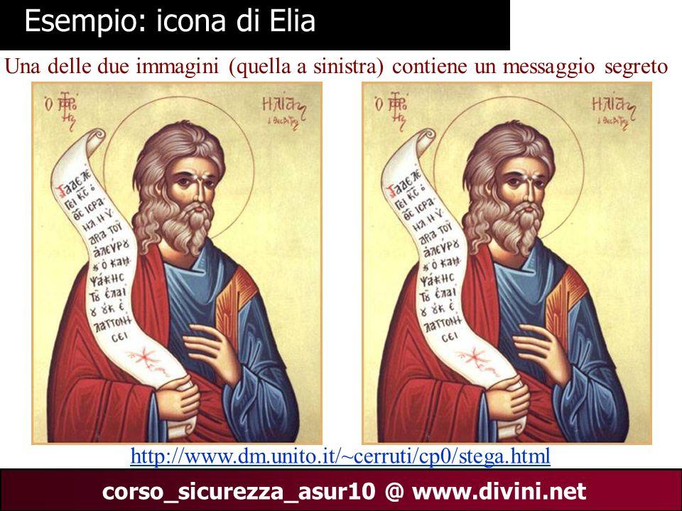 Esempio: icona di Elia Una delle due immagini (quella a sinistra) contiene un messaggio segreto.