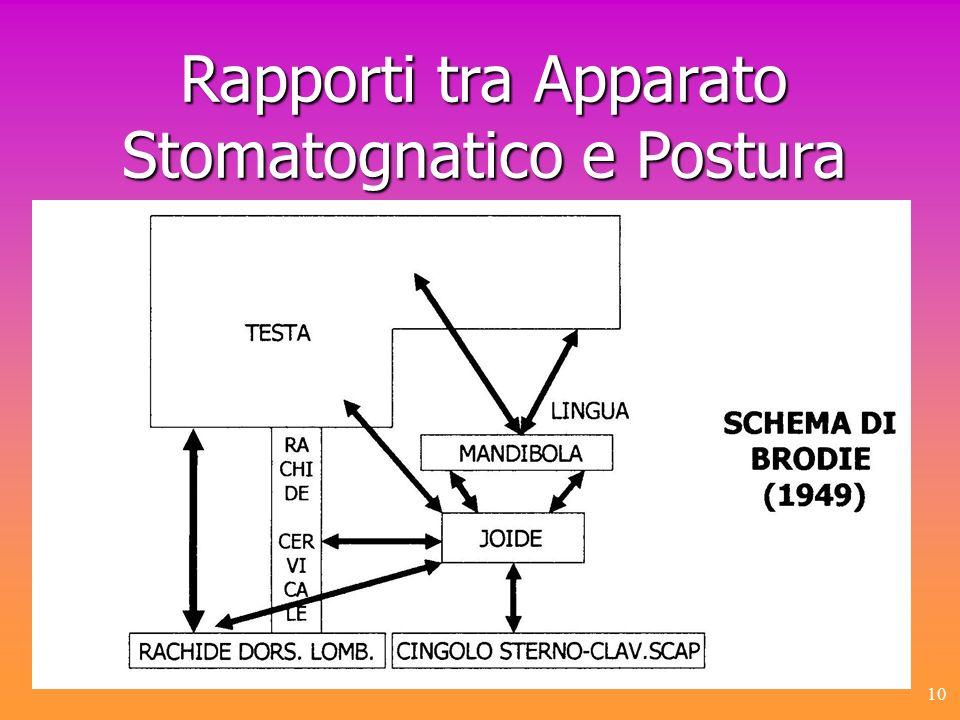 Rapporti tra Apparato Stomatognatico e Postura