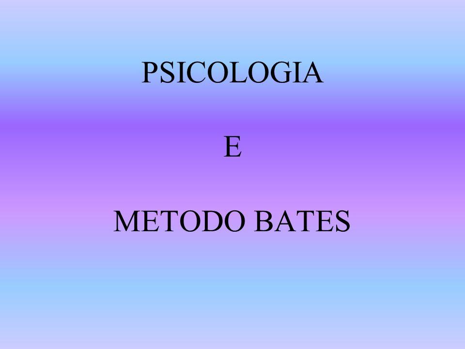PSICOLOGIA E METODO BATES