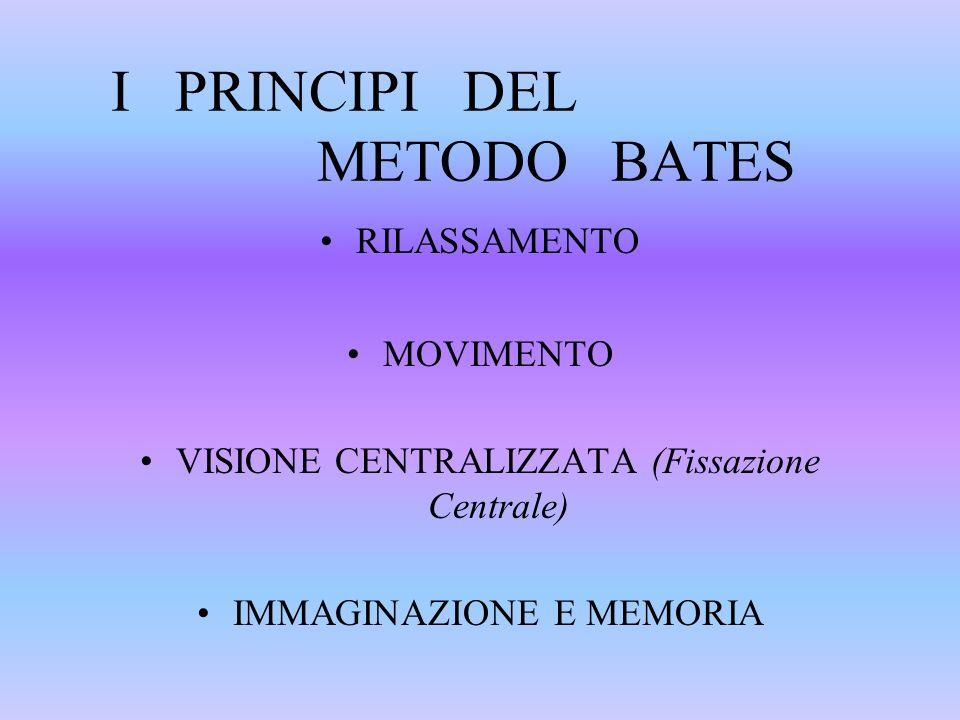 I PRINCIPI DEL METODO BATES
