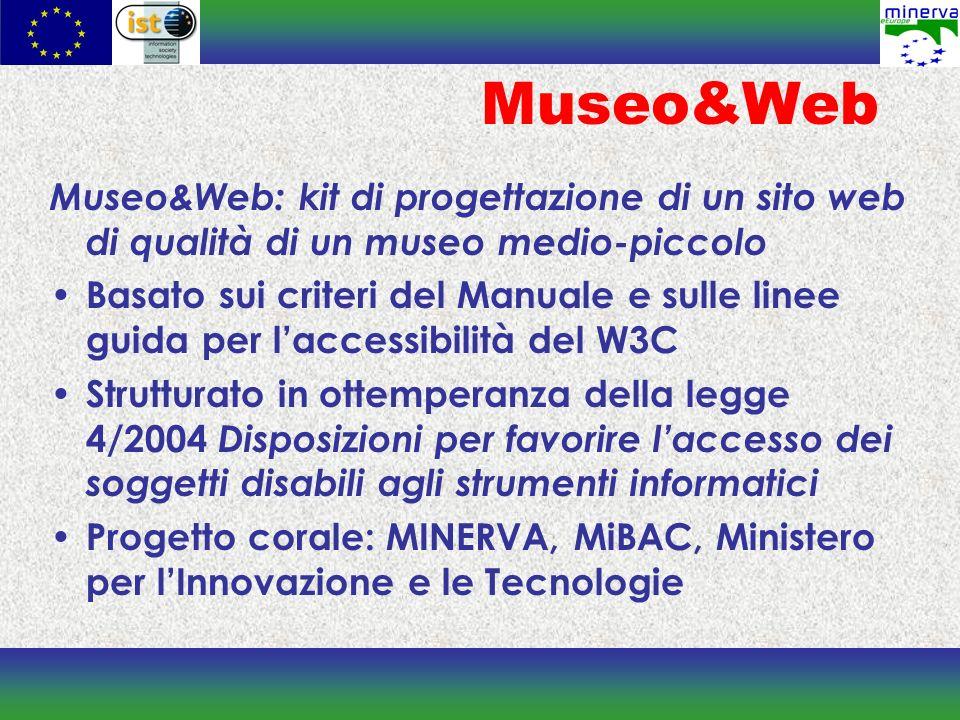 Museo&Web Museo&Web: kit di progettazione di un sito web di qualità di un museo medio-piccolo.