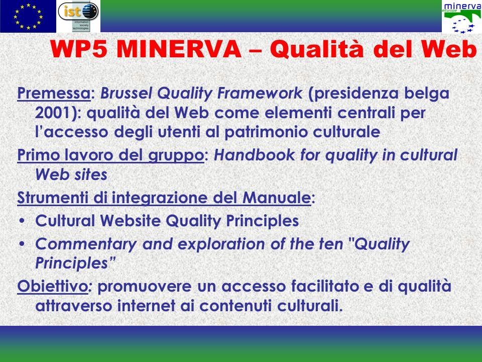 WP5 MINERVA – Qualità del Web
