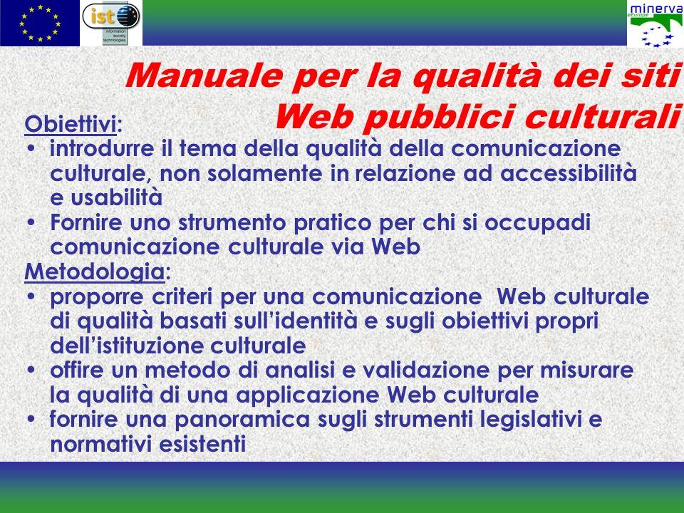 Manuale per la qualità dei siti Web pubblici culturali