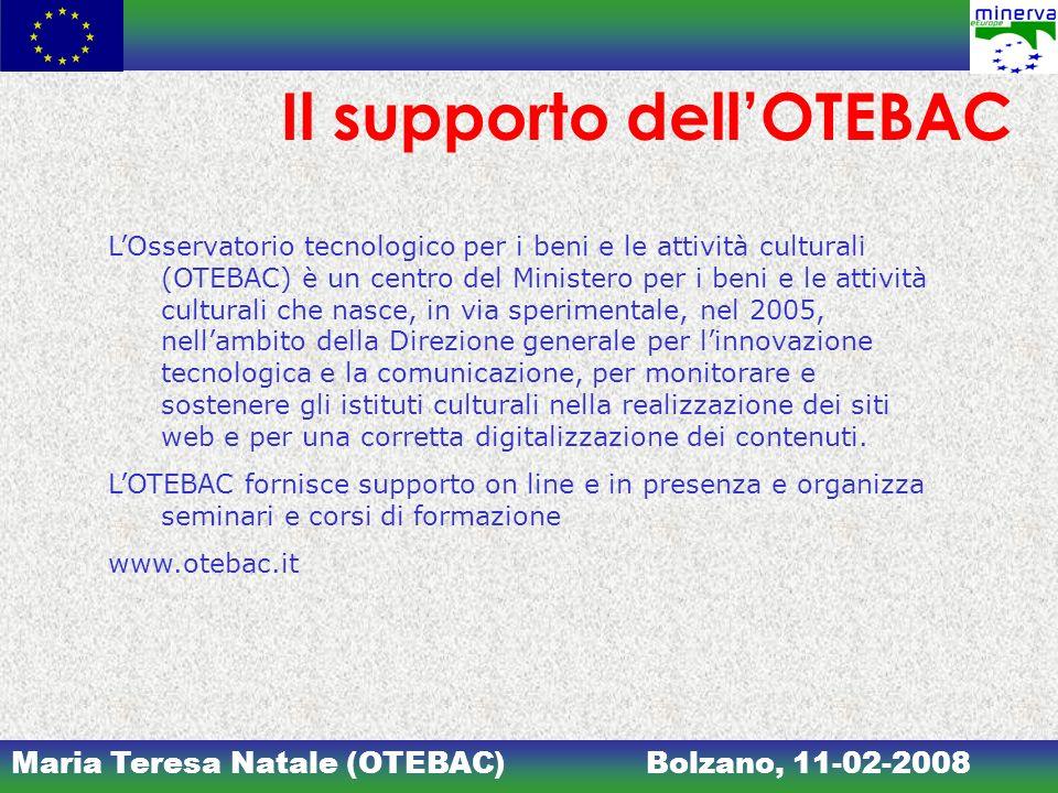 Il supporto dell'OTEBAC