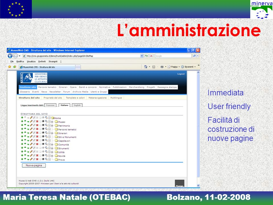 L'amministrazione Immediata User friendly