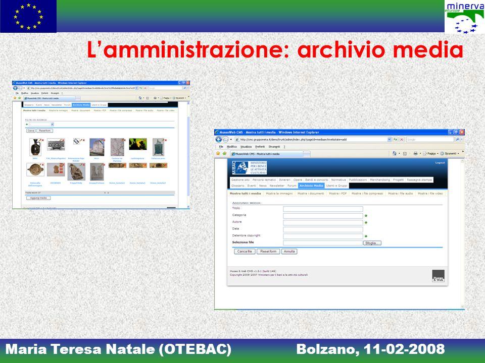 L'amministrazione: archivio media
