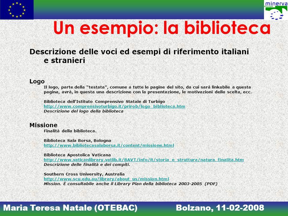 Un esempio: la biblioteca