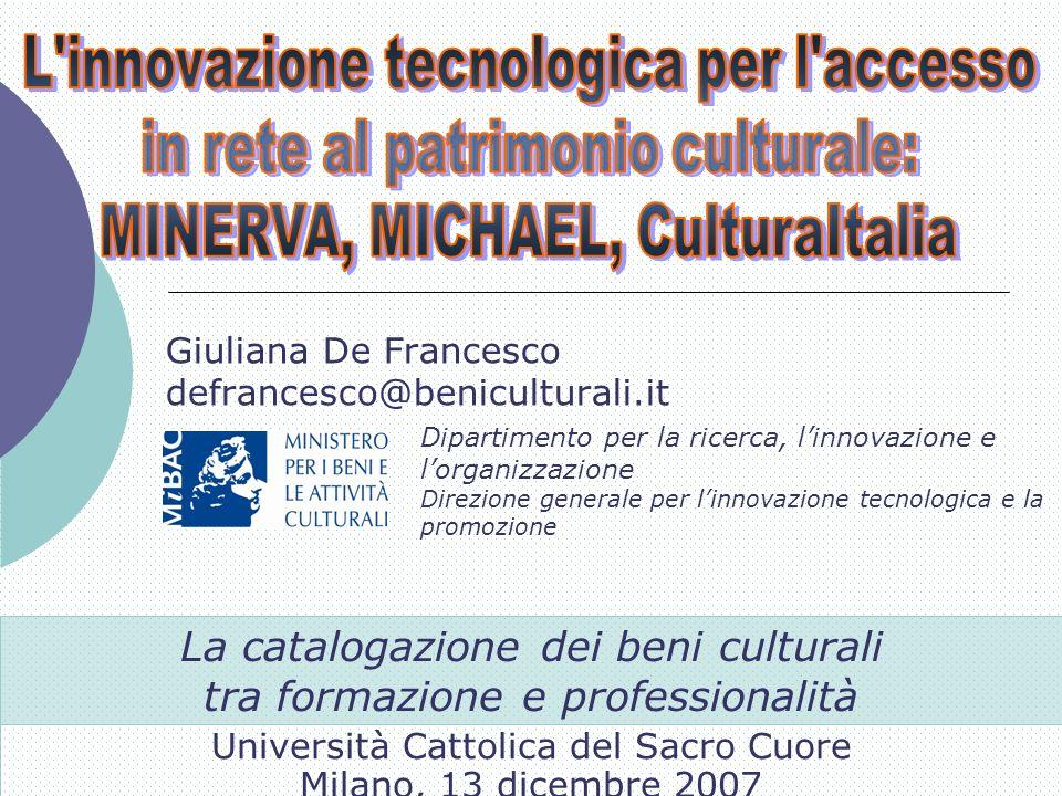 La catalogazione dei beni culturali tra formazione e professionalità