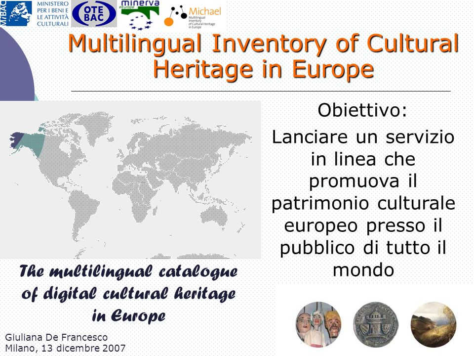 Multilingual Inventory of Cultural Heritage in Europe