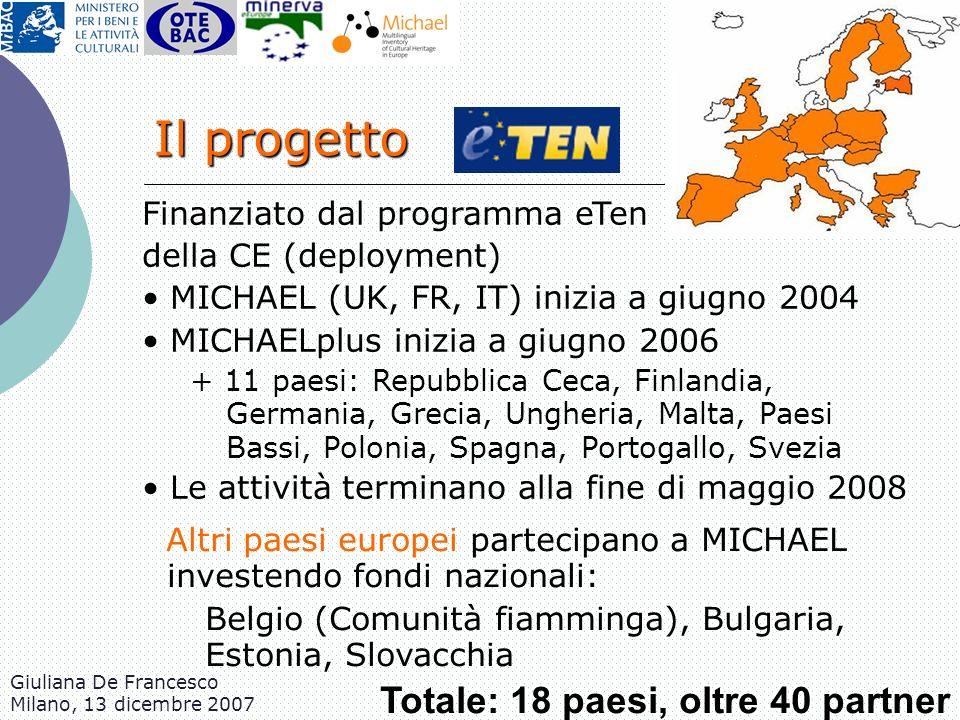 Il progetto Finanziato dal programma eTen della CE (deployment)