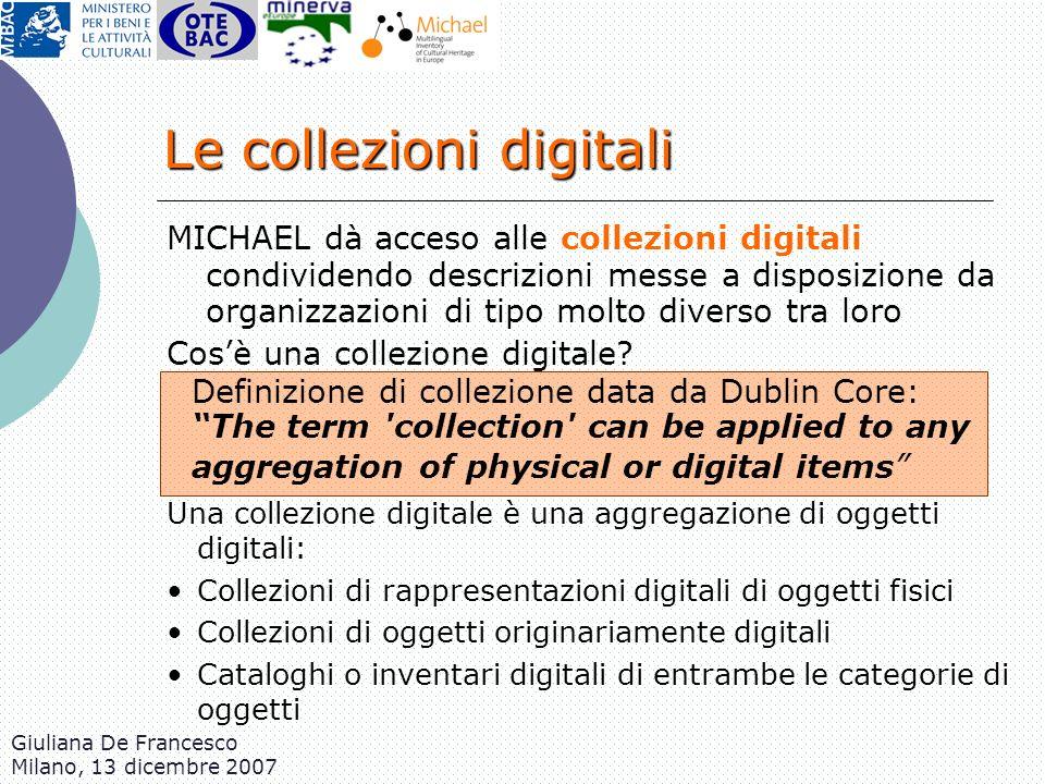 Le collezioni digitali