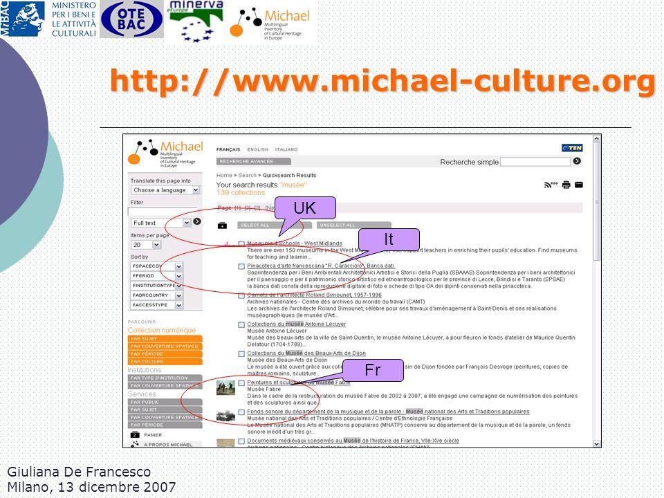 http://www.michael-culture.org UK It Fr Giuliana De Francesco