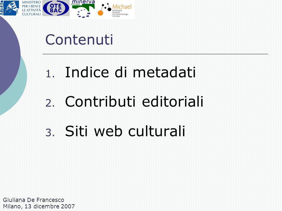 Contributi editoriali Siti web culturali