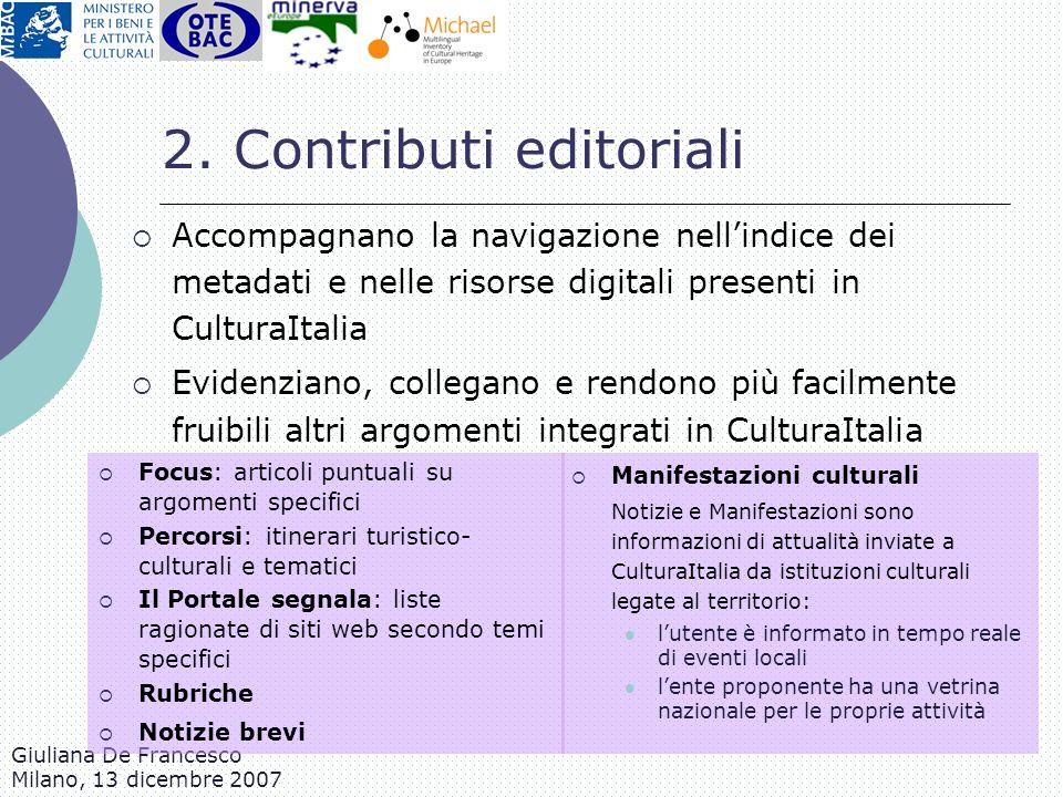 2. Contributi editoriali