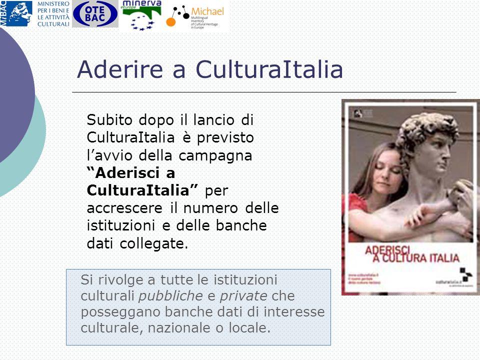 Aderire a CulturaItalia