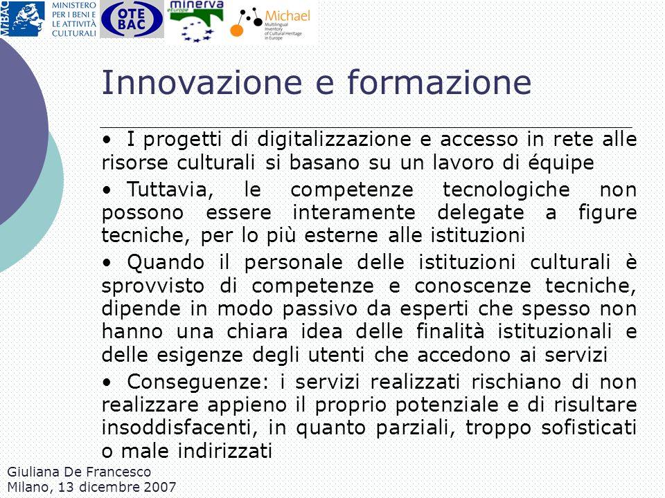 Innovazione e formazione