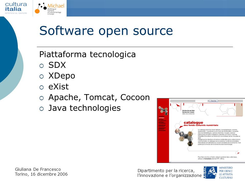 Software open source Piattaforma tecnologica SDX XDepo eXist