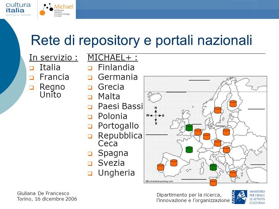 Rete di repository e portali nazionali